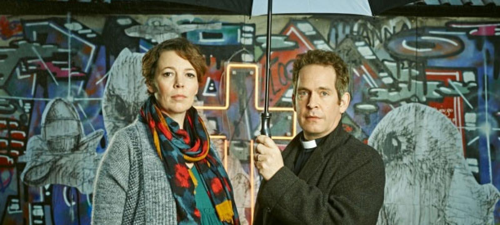 Olivia Colman and Tom Hollander in 'Rev' (Pic: BBC)