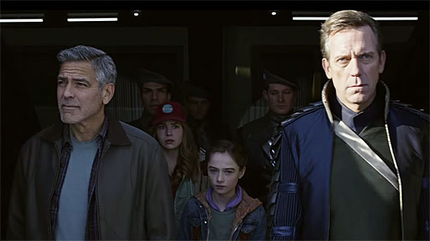 George Clooney and Hugh Laurie in 'Tomorrowland' (Pic: Disney)