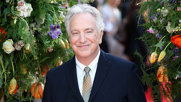 """British actor Alan Rickman poses for photographers on the red carpet for the UK premiere of the film """"A Little Chaos"""" in central London on April 13, 2015.  AFP PHOTO / JUSTIN TALLIS        (Photo credit should read JUSTIN TALLIS/AFP/Getty Images)"""
