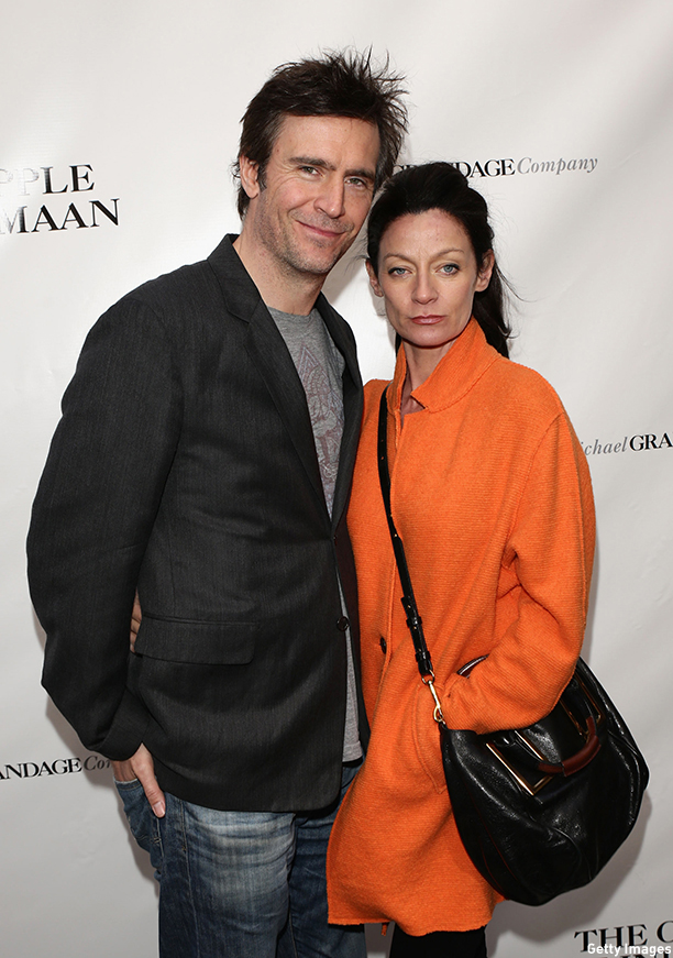 "NEW YORK, NY - APRIL 20:  Actor Jack Davenport and guest attend the Broadway opening night of ""The Cripple Of Inishmaan"" at the Cort Theatre on April 20, 2014 in New York City.  (Photo by Andrew Toth/Getty Images)"