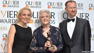 Amanda Abbington, Angela Lansbury and Mark Gatiss (Pic: Anthony Harvey/Getty Images)