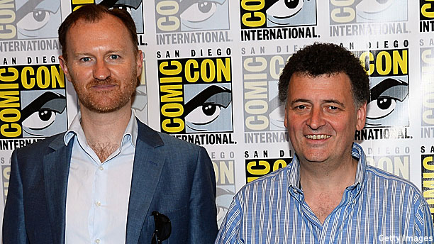 Mark Gatiss and Steven Moffat (Pic: Ethan Miller/Getty Images)