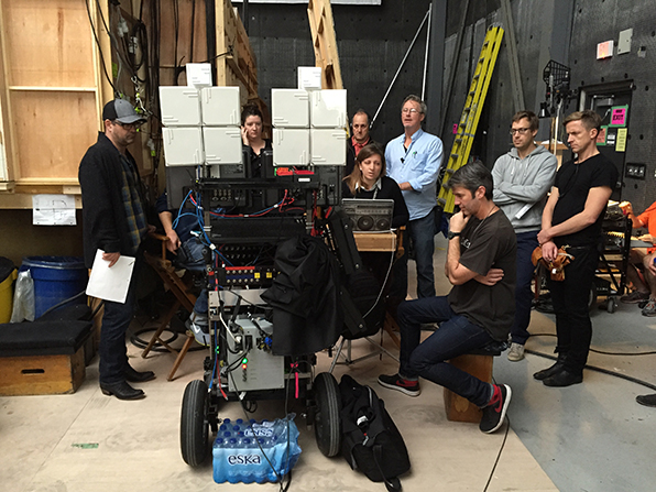 Oct 14/2014. First shot of Principle Photograhy. From left to right: Yours truly, John's Nike behind the Monitor, Mackenzie Donaldson (Associate Producer), John Nelles (dialect coach), Melanie Orr (script supervisor) , Steve Stack (props), Aaron Morton (DOP), Alex Levine (Hive), and Peter Webster (Costume Set Supervisor)