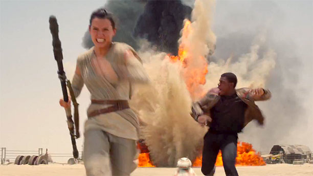 Daisy Ridley and John Boyega in 'Star Wars: The Force Awakens' (Pic: Lucasfilm)