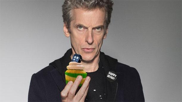 Peter Capaldi and cake (Pic: BBC)