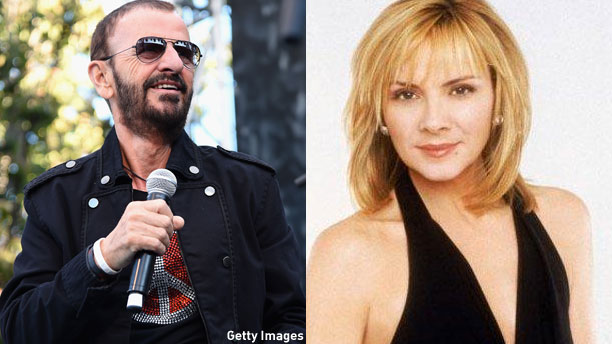 Ringo Starr and Kim Cattrall (Pic: Jason Merritt/Getty Images)