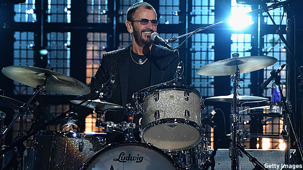 Ringo Starr At The Rock N Roll Hall Of Fame 2015 Pic