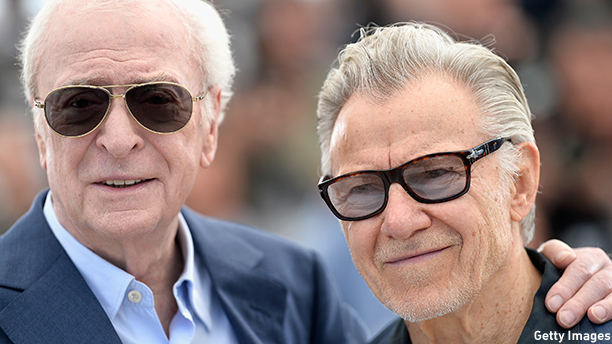 "CANNES, FRANCE - MAY 20:  Actors Michael Caine and Harvey Keitel attend a photocall for ""Youth"" during the 68th annual Cannes Film Festival on May 20, 2015 in Cannes, France.  (Photo by Pascal Le Segretain/Getty Images)"