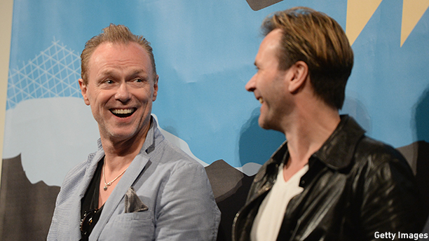 """AUSTIN, TX - MARCH 12:  Gary Kemp (L) and Martin Kemp of Spandau Ballet speaks after the screening of """"The Soul Boys of The Western World"""" during the 2014 SXSW Music, Film + Interactive Fetival at the Paramount Theatre on March 12, 2014 in Austin, Texas.  (Photo by Michael Buckner/Getty Images for SXSW)"""