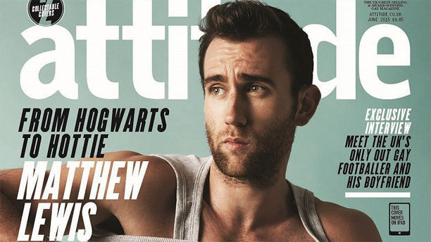 Matthew Lewis on the cover of Attitude Magazine (Pic: Attitude Media Ltd)