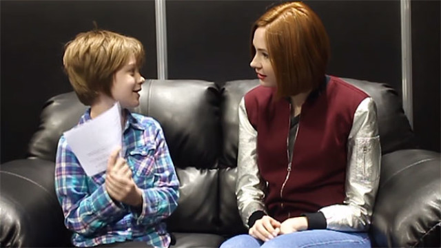 Presley Alexander and Karen Gillan at Denver Comic Con (Pic: Act Out Games)
