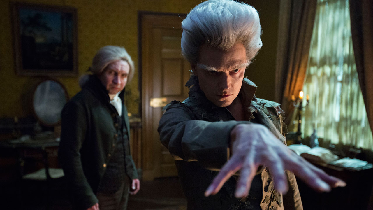Eddie Marsan (left) as Mr. Norrell and Marc Warren as the Gentleman in BBC AMERICA's 'Jonathan Strange & Mr Norrell' (BBC AMERICA)