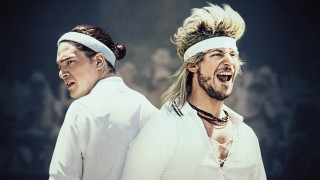 Kit Harington and Andy Samberg in '7 Days in Hell' (Pic: HBO)