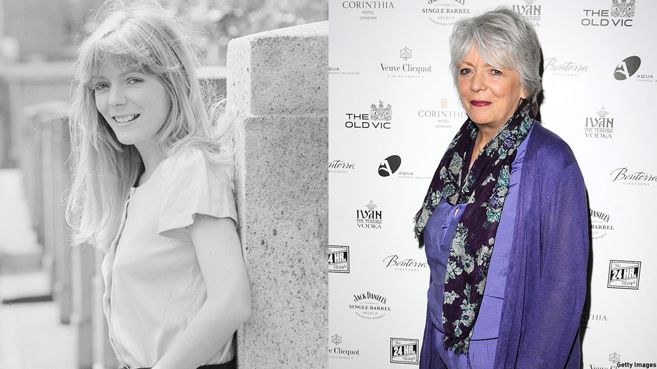 Alison Steadman in 1974 (left) and 2011. (Getty Images)