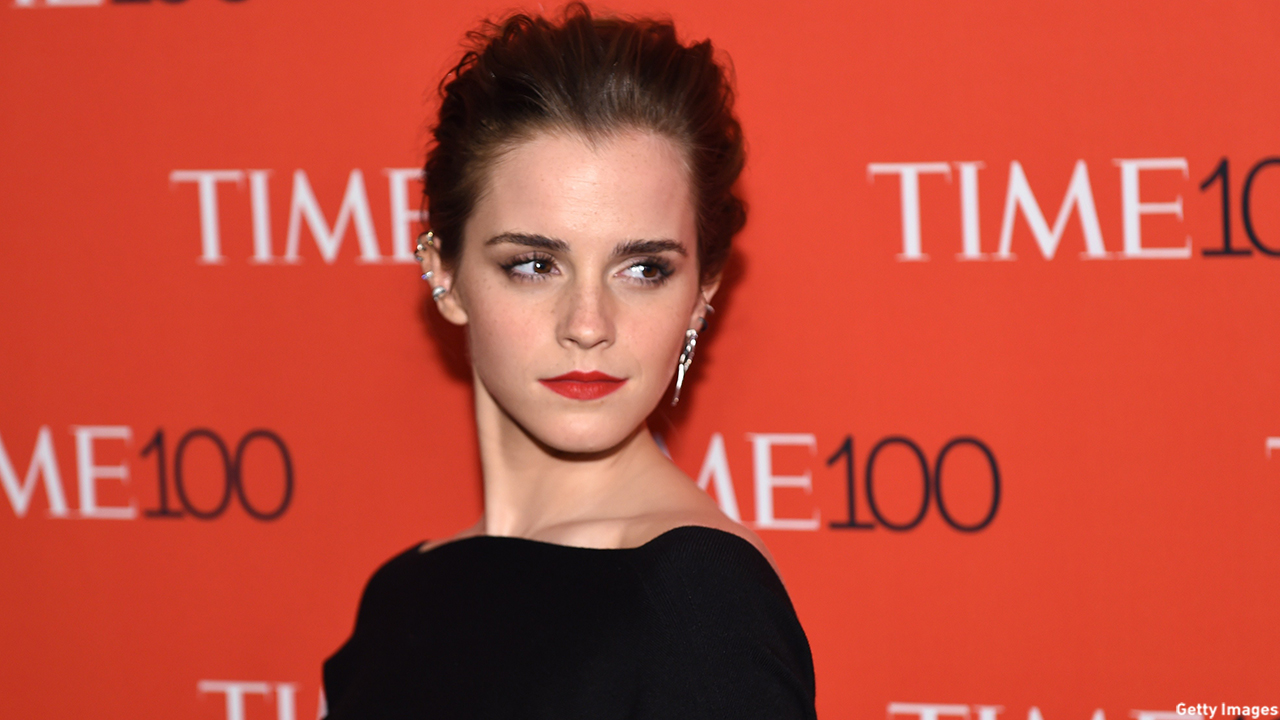 Honoree Emma Watson shines on the red carpet at Time's 100 Gala celebrating the Time 100 issue of the Most Influential People.  (TIMOTHY A. CLARY/AFP/Getty Images)