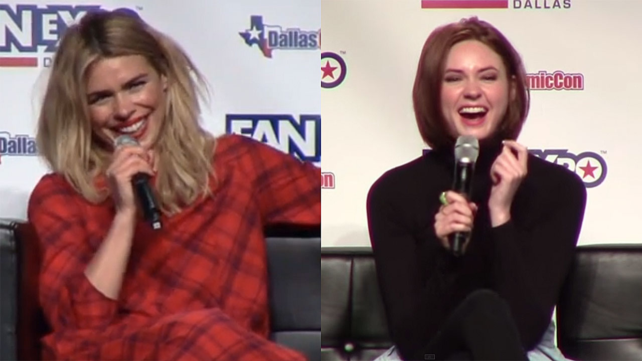 Billie Piper and Karen Gillan at Fan Expo Dallas (Pic: YouTube)