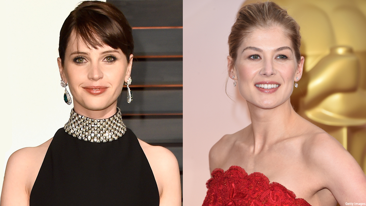 Felicity Jones and Rosamund Pike (Pics: Jon Kopaloff and Jason Merritt/Getty Images)