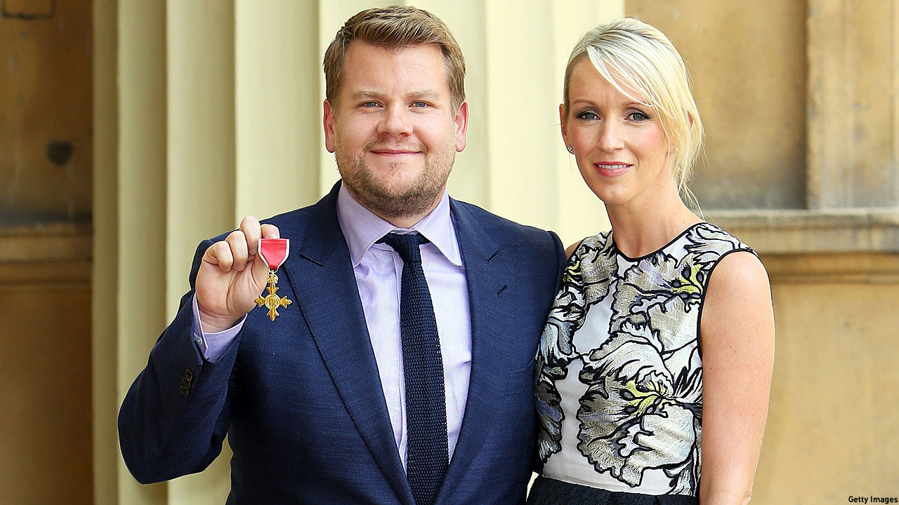 James Corden and Julia Carey (Pic: Steve Parsons - WPA Pool/Getty Images)