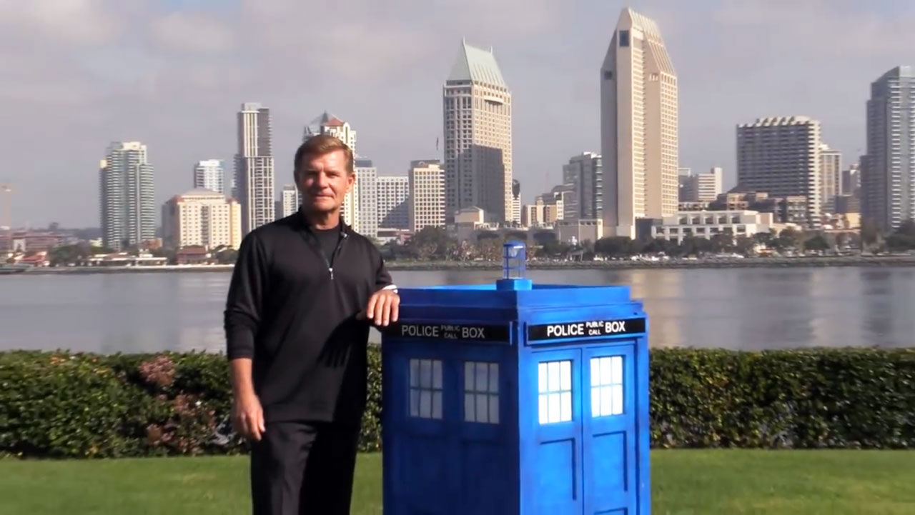 Otto Dieffenbach with TARDIS. (Photo: YouTube)