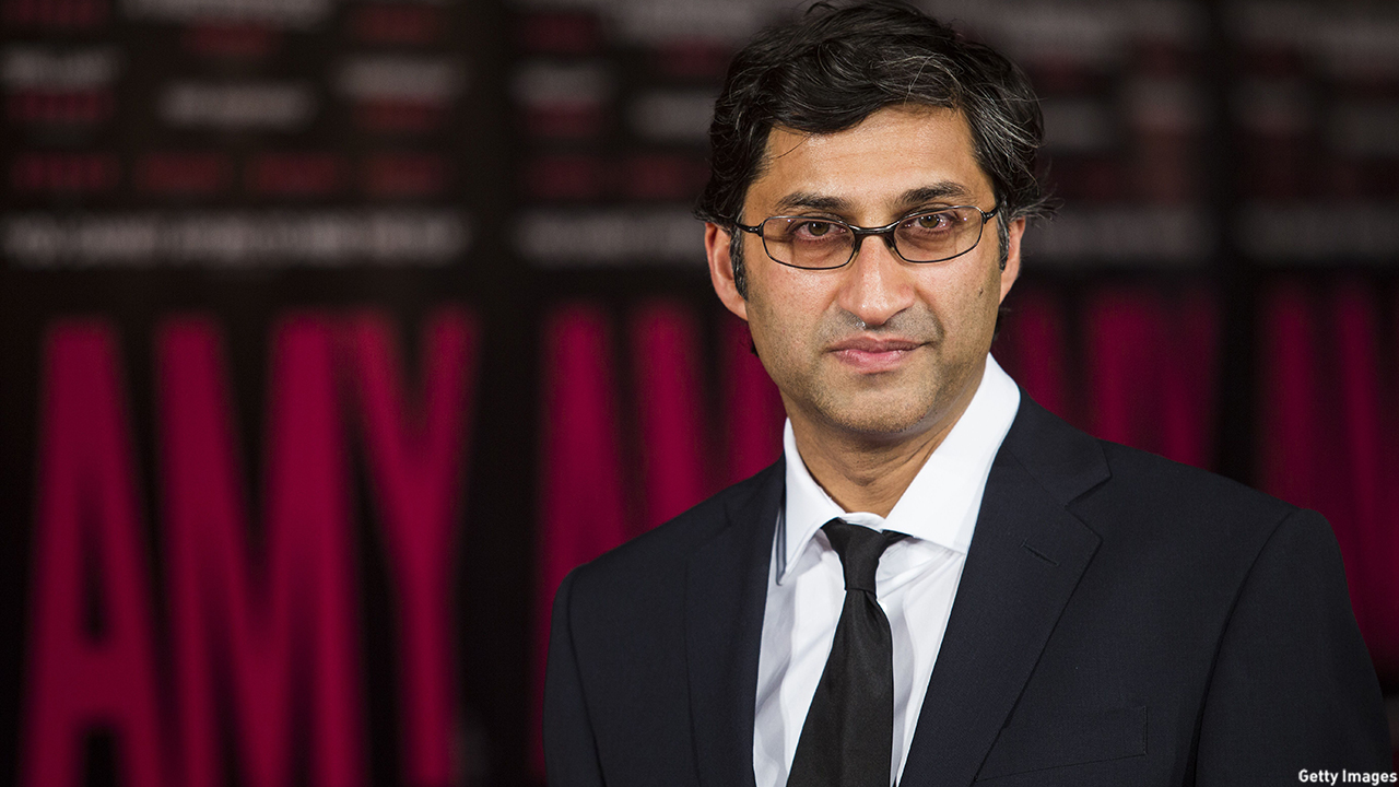 British director Asif Kapadia arrives for the premiere of the film Amy in London. (JACK TAYLOR/AFP/Getty Images)