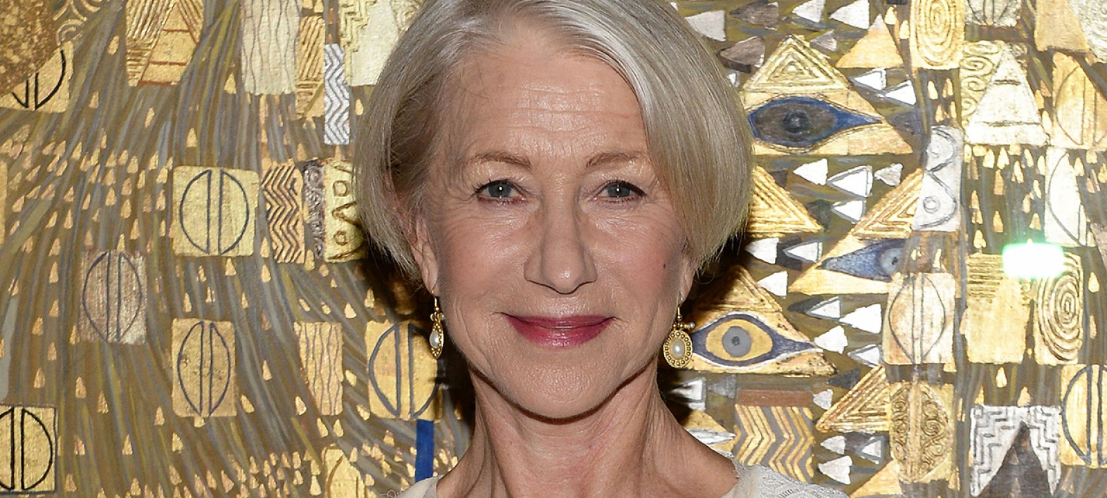 """Actress Helen Mirren Honored By World Jewish Congress For Her Role In Acclaimed Film """"Woman In Gold"""" At The Neue Galerie In New York City"""