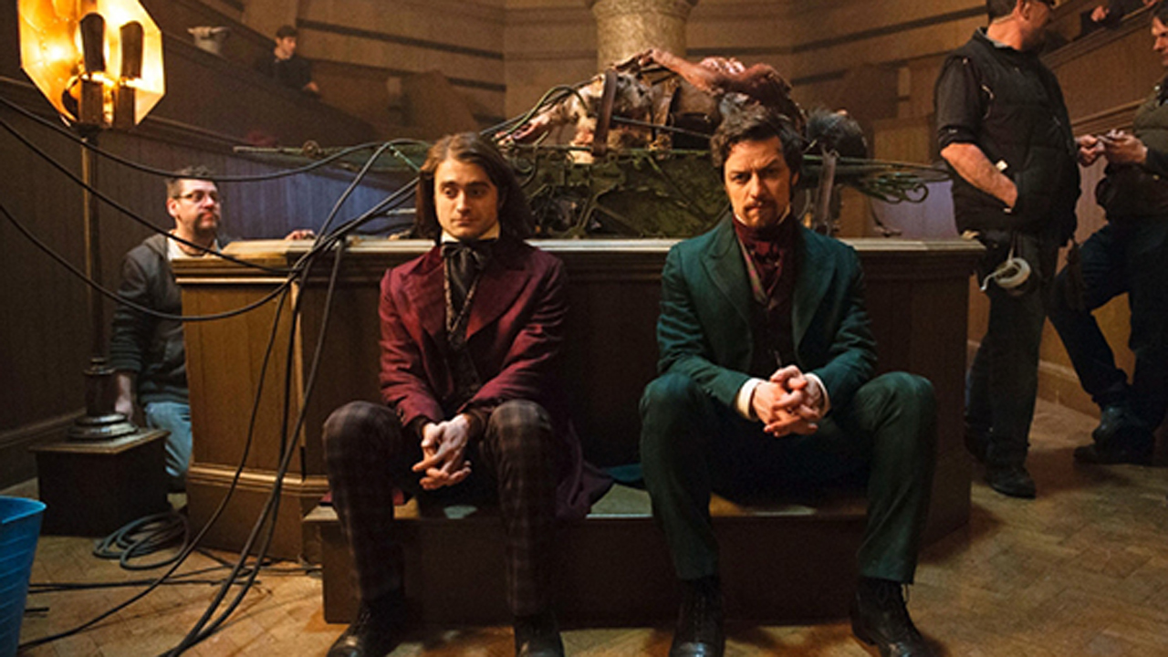 Daniel Radcliffe and James McAvoy star in Victor Frankenstein as Igor and Frankenstein respectively. (20th Century Fox)