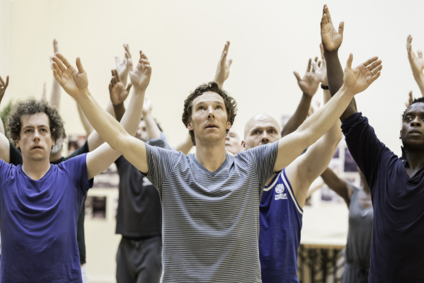 Benedict Cumberbatch and cast rehearse 'Hamlet' (Pic: Johan Persson)