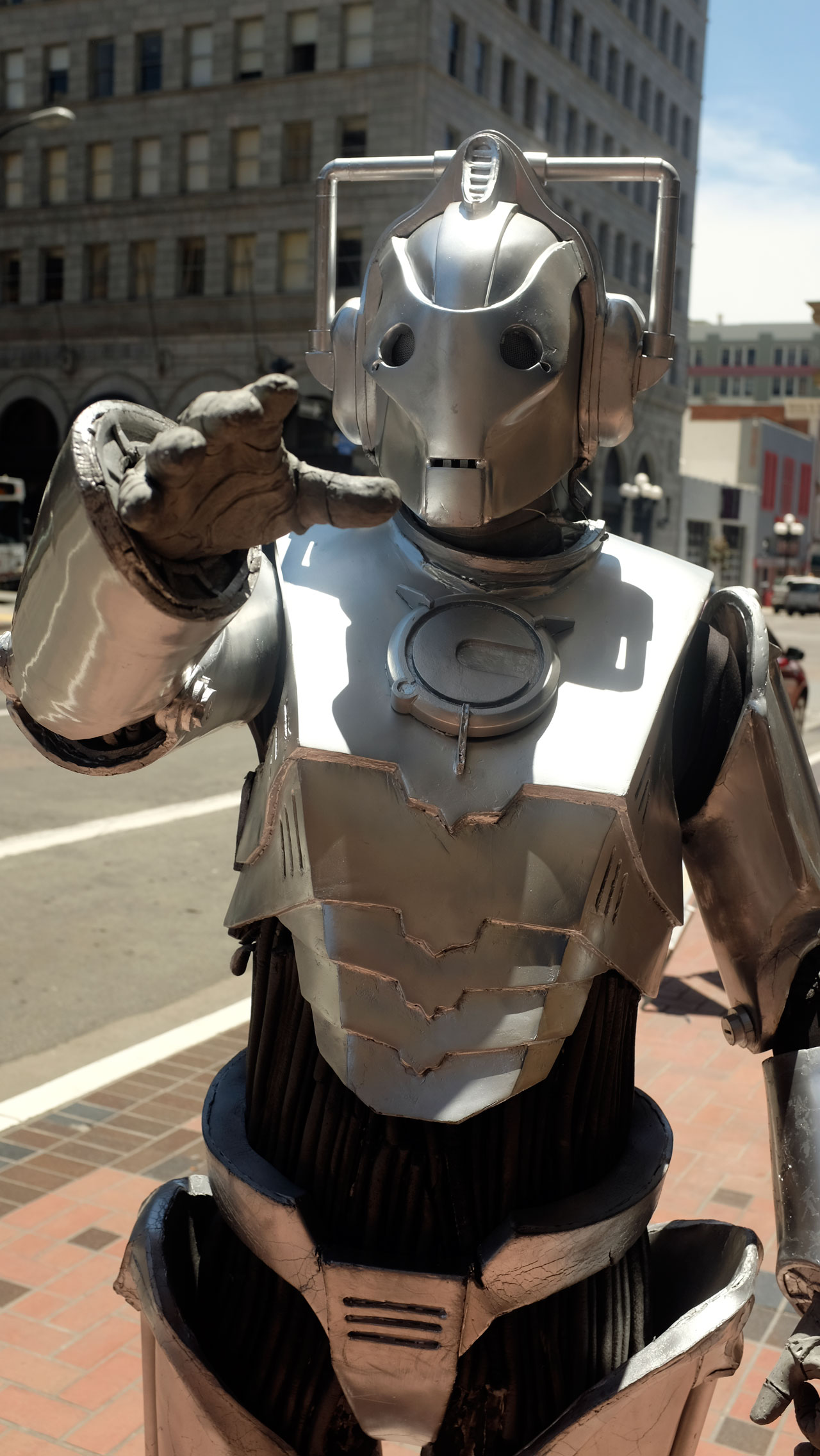 This Cyberman won Best Cosplay at the 'Doctor Who' fan meet up? But is it really cosplay... (Photo: Kevin Wicks/BBC AMERICA)