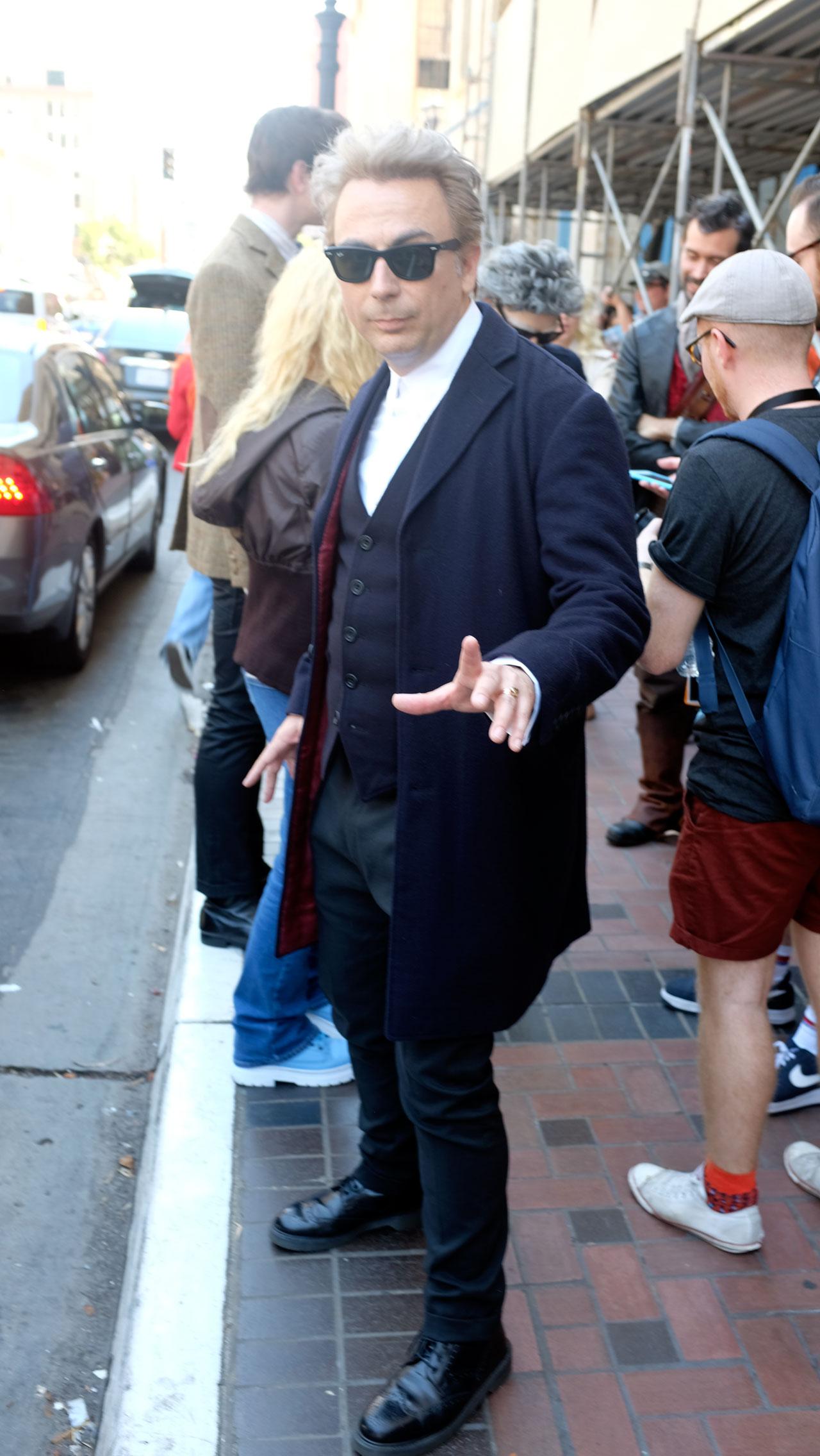 Uncanny Twelfth Doctor cosplay from Stephen Prescott. (Photo: Kevin Wicks/BBC AMERICA)
