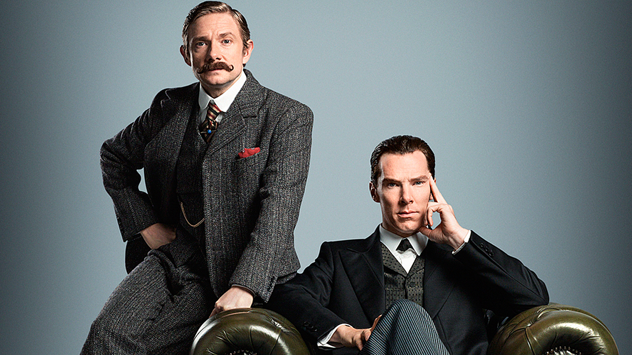 Martin Freeman and Benedict Cumberbatch in 'Sherlock' (Pic: BBC)