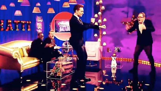 Tom Hiddleston dancing (Pic: Channel 4)