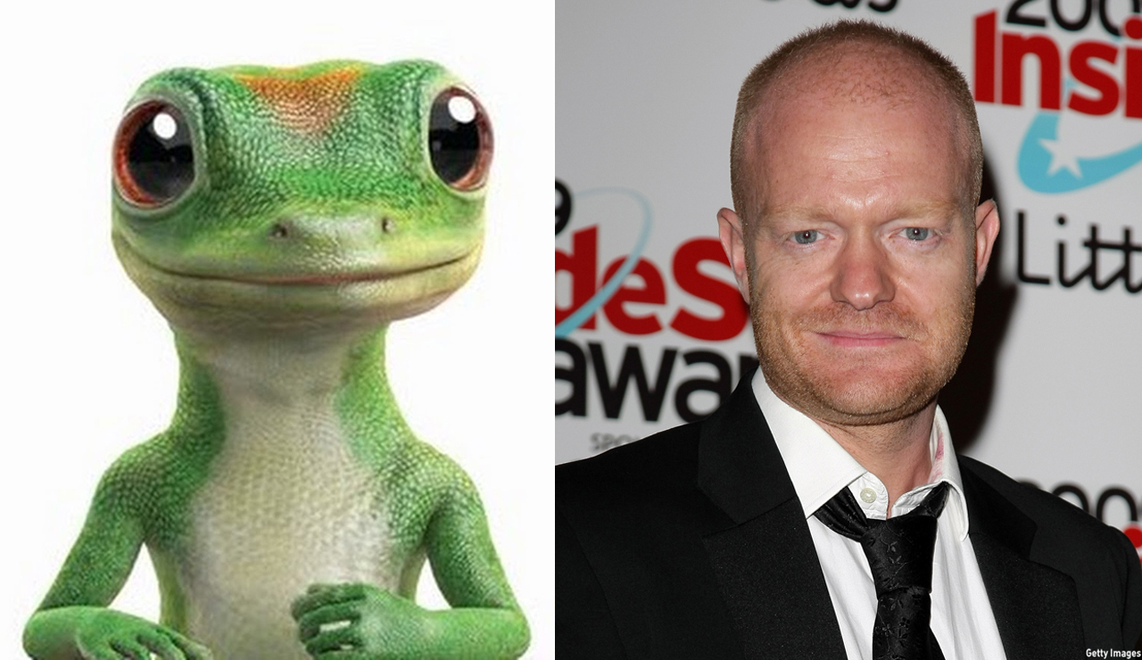 Actor Jake Wood provides the voice for Martin the Geico Gecko. (YouTube/Getty)