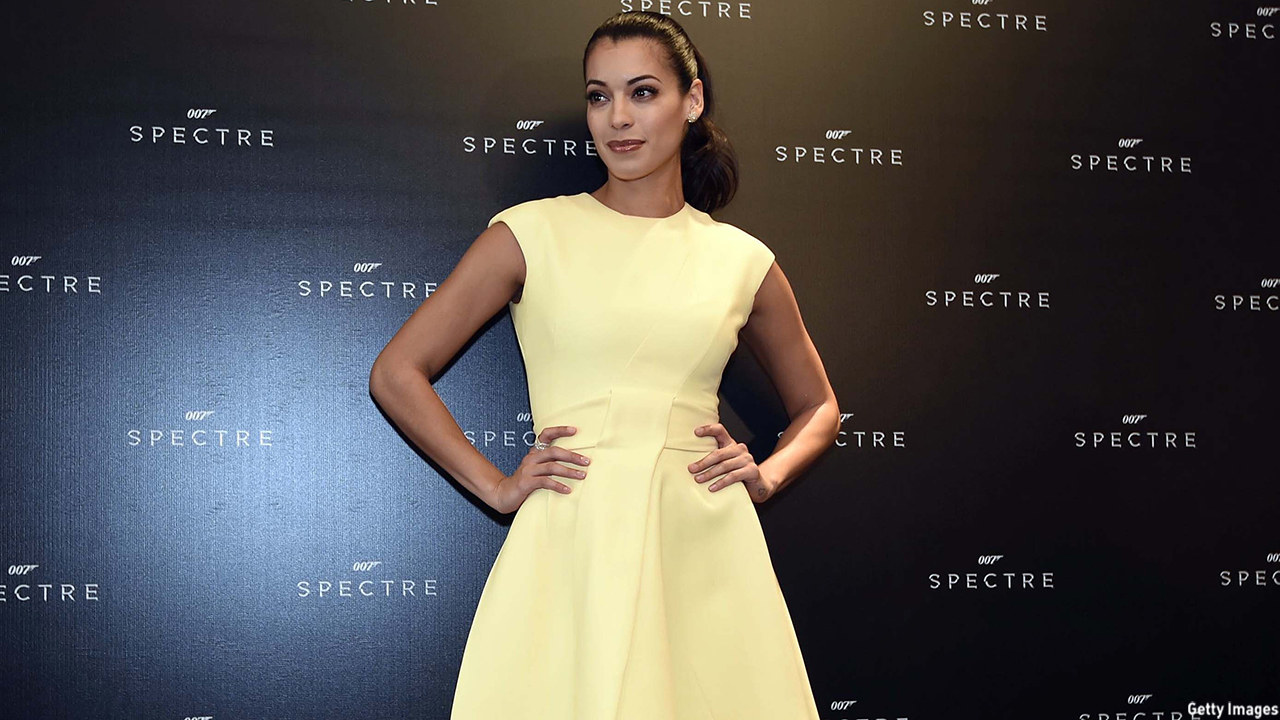 Stephanie Sigman posed for photographers during a photo call for Spectre. (ALFREDO ESTRELLA/AFP/Getty Images)