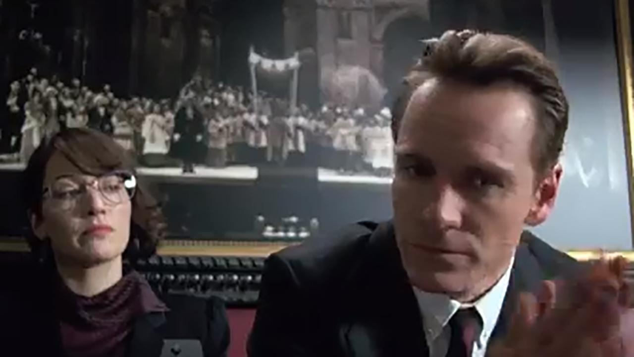 Kate Winslet and Michael Fassbender star in Steve Jobs. (YouTube)