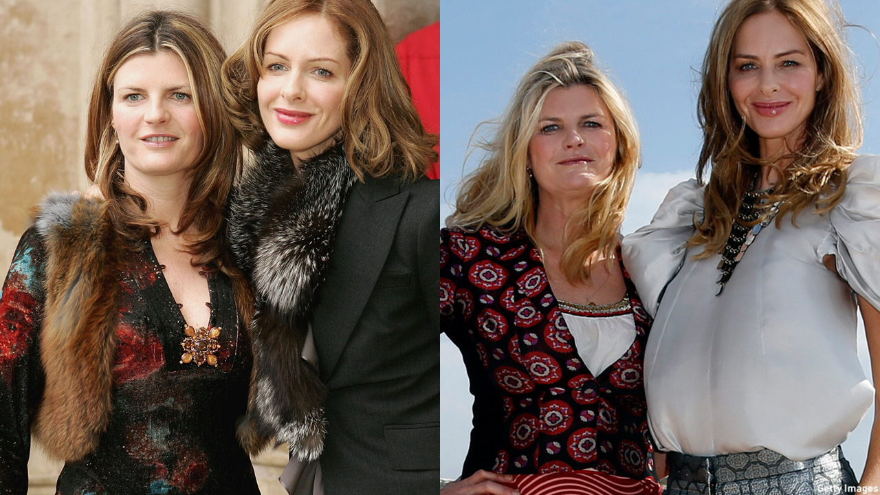 'What Not to Wear Hosts' Susannah Constantine and Trinny Woodward in 2003 (left) and 2012. (Photo: Getty Images)