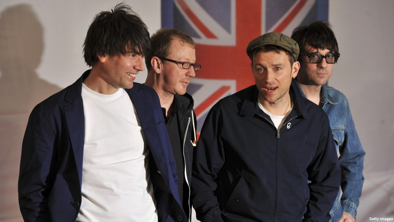 "Blur, whose single ""Country House"" topped the U.K. charts 20 years ago this week. (Pic: Ben Stansall/AFP/Getty)"