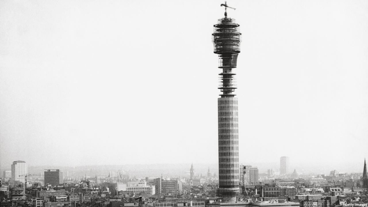 The Post Office Tower, as it was then known, during construction in 1964. (Pic: Hulton Archive/Getty Images)