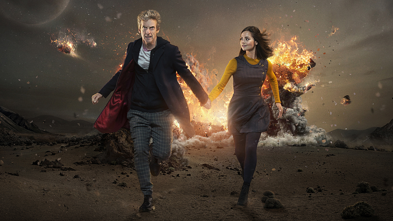 Peter Capaldi and Jenna Coleman in 'Doctor Who' Season 9. (Pic: BBC)