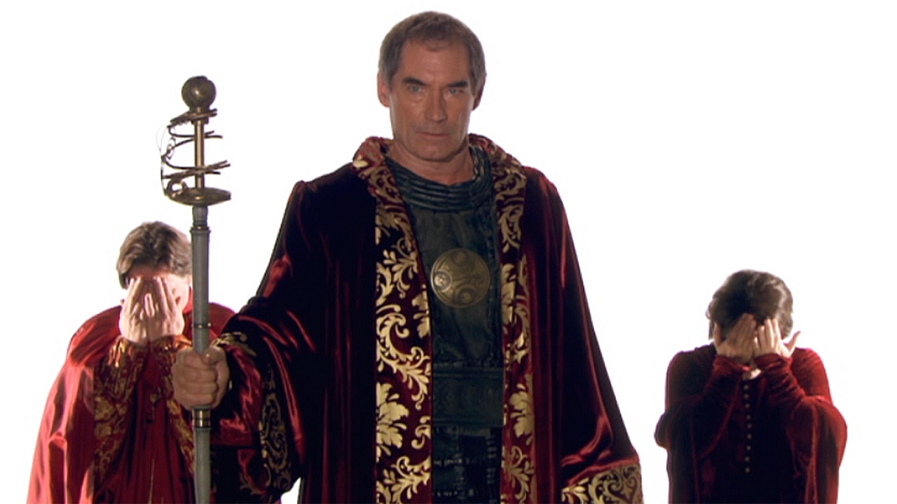 Timothy Dalton as Rassilon in 'The End of Time' (Photo: BBC)