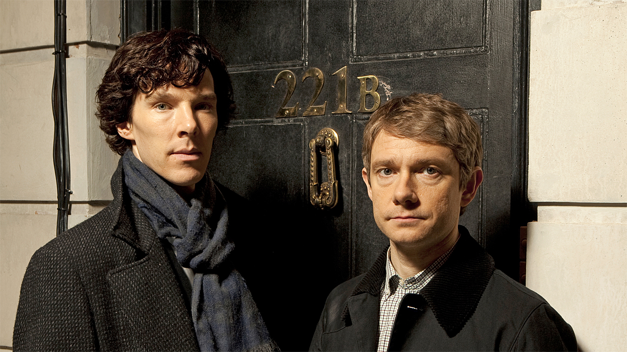 Benedict Cumberbatch and Martin Freeman in 'Sherlock' (Photo: BBC)