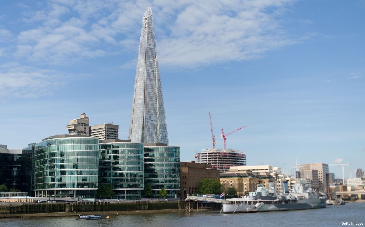 The Shard overlooks the South Bank of the River Thames. (Pic: Leon Neal/AFP/Getty Images)