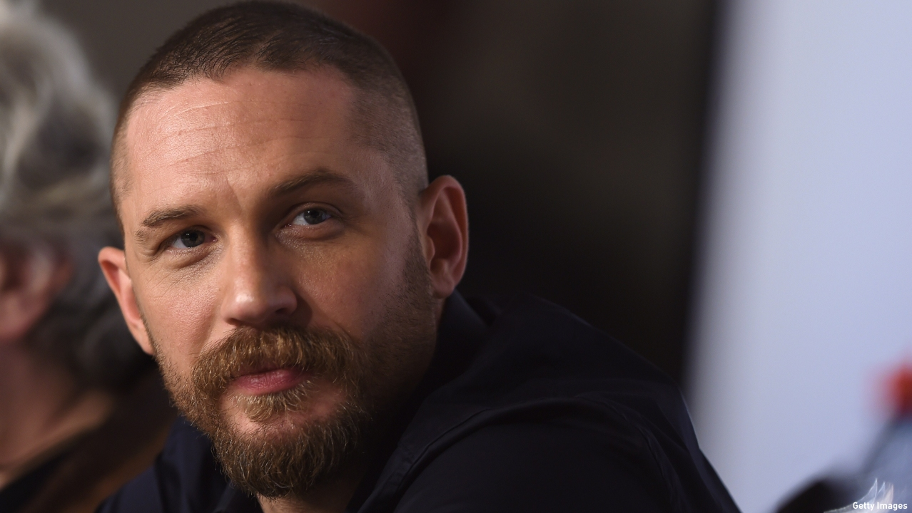 Tom Hardy promoting 'Mad Max: Fury Road.' (Pic: Anne-Christine Poujoulat/AFP/Getty)