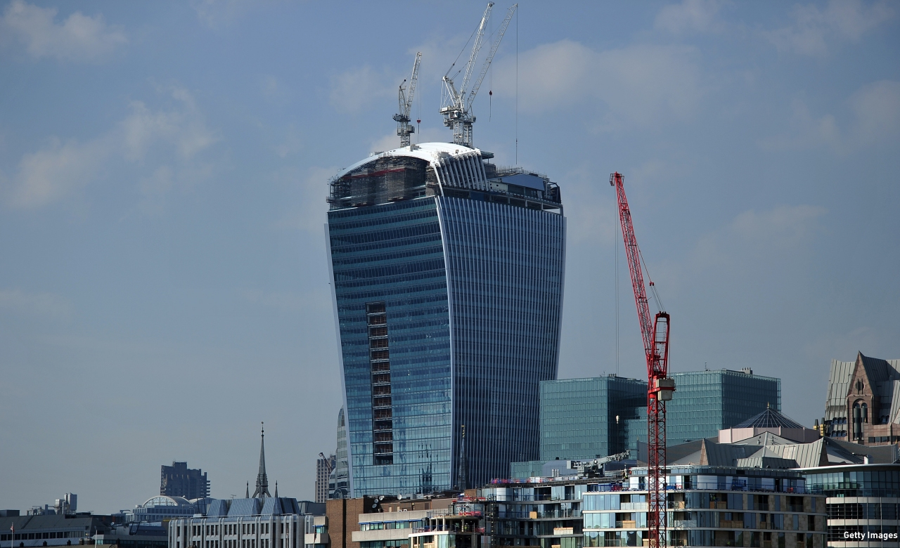 The so-called 'Walkie-Talkie' is London's most unusual tower. (Pic: Carl Court/AFP/Getty Images)