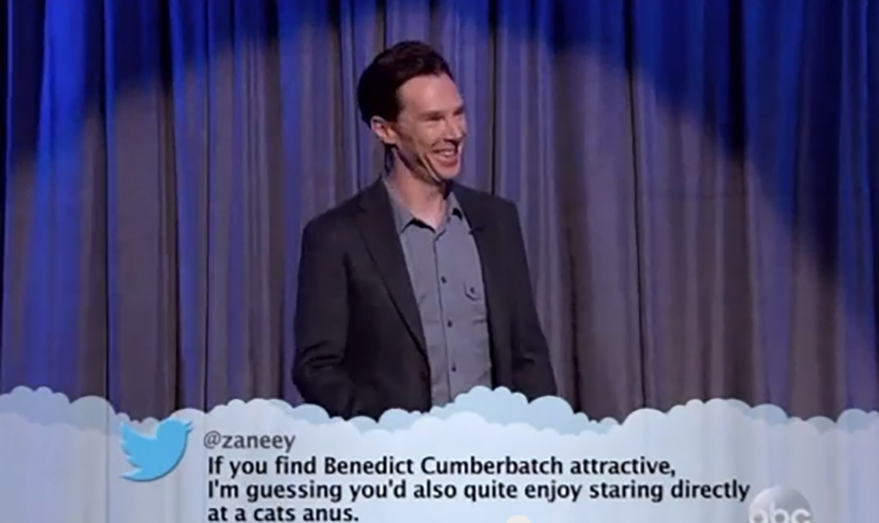 Benedict Cumberbatch gets sassy on 'Jimmy Kimmel Live.' (YouTube)