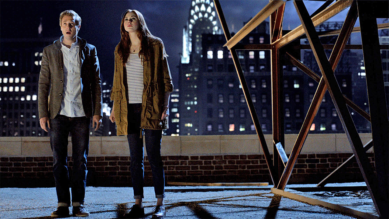 Arthur Darvill and Karen Gillan in 'The Angels Take Manhattan' (Photo: BBC AMERICA)