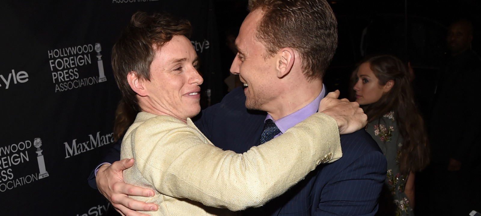 Eddie Redmayne and Tom Hiddleston (Photo: Getty Images/Jason Merritt)