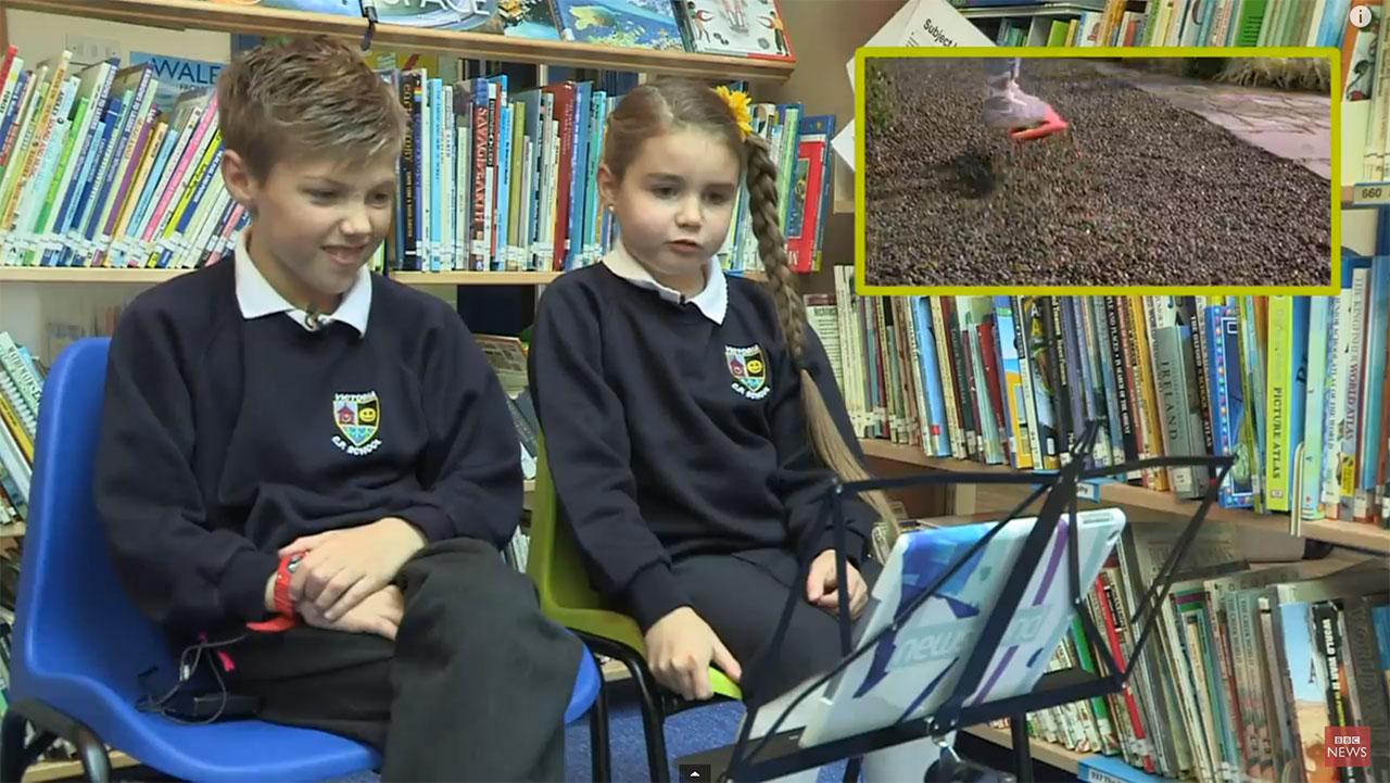 British kids react to Back to the Future's 2015. (Photo: YouTube)