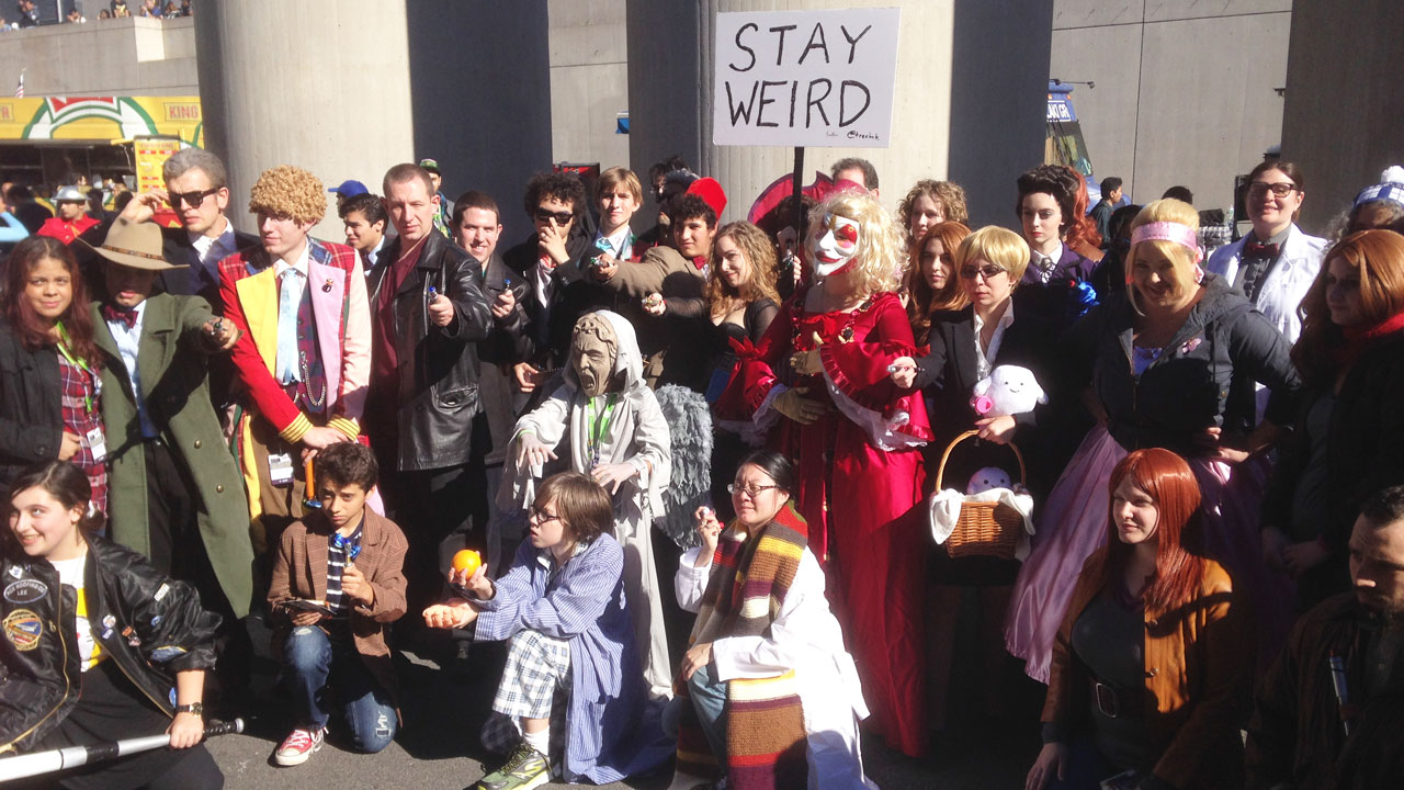 'Doctor Who' cosplayers gathered on Sunday (October 11). (Photo: BBC AMERICA)