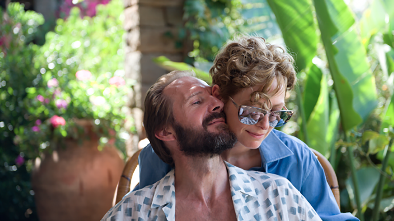 Tilda Swinton and Ralph Fiennes star in 'A Big Splash.' They're just friends ... right? (FOX Searchlight)
