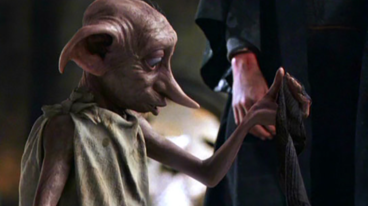 Dobby is gifted a sock in the 'Harry Potter' series. (Warner Bros.)